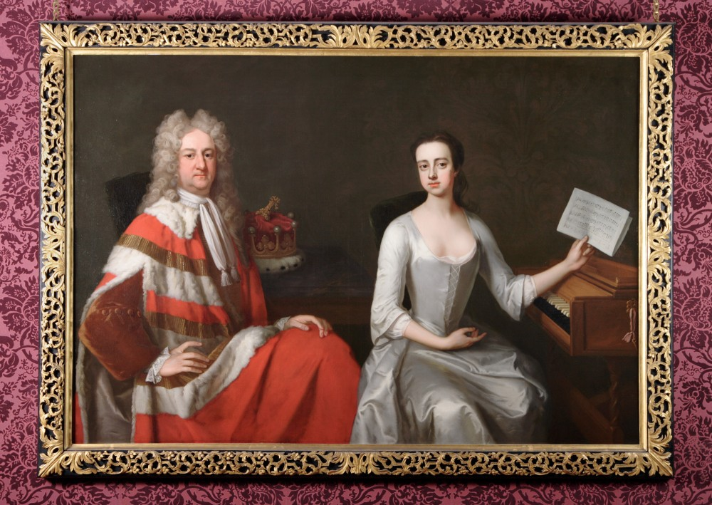 George Booth 2nd Earl of Warrington (1675-1758) and his Daughter Lady Mary Booth later Countess of Stamford (1704-1772) - Michael Dahl (Stockholm 1656:9 – London 1743)